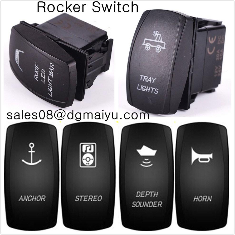Rocker Switch 650GR 12 voltios Cabrestante Aislador Carling tipo láser arb Atv Off Road