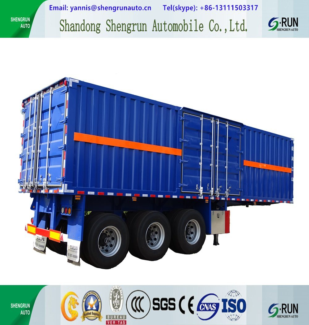 7ea65a303c China 3 Axles Van Type Enclosed Cargo Semi Tractor Trailer Box ...