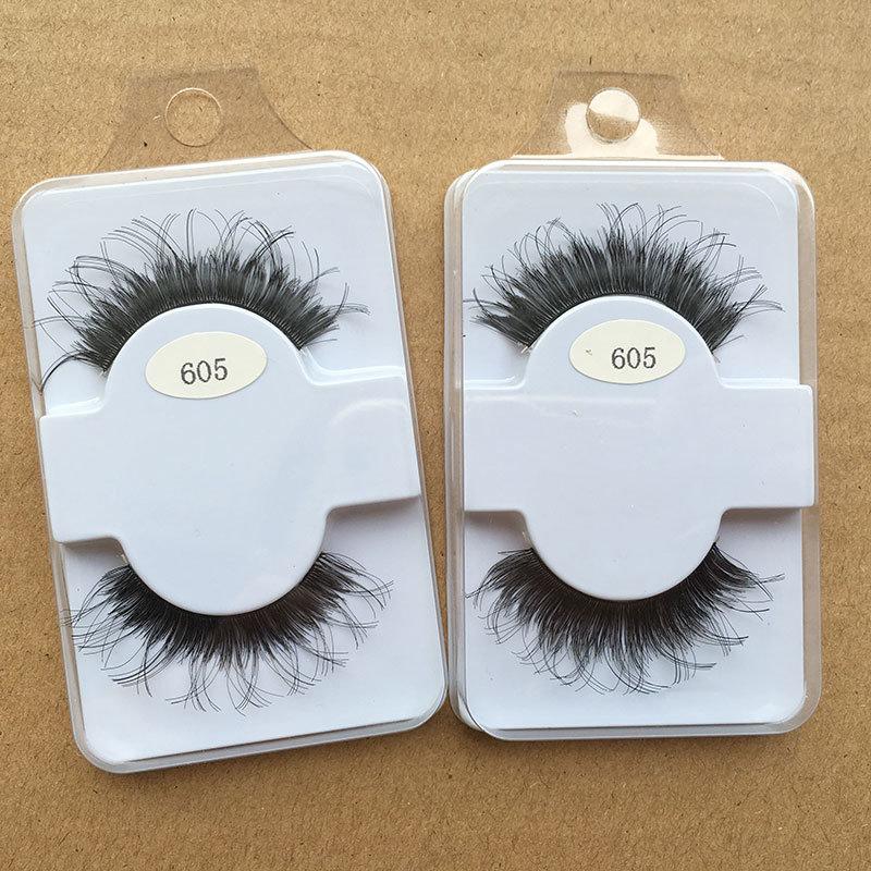 China Free Samples Natural Fashion 3d Human Hair False Eye Lashes