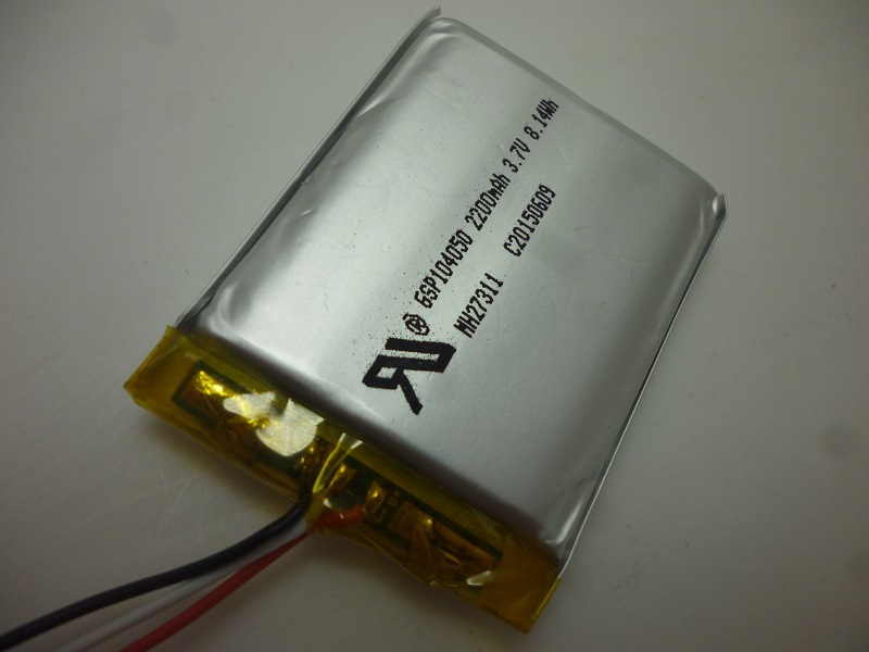 Lithium Ion Polymer Battery 3.7V 2200mAh 104050 Rechargerable Battery