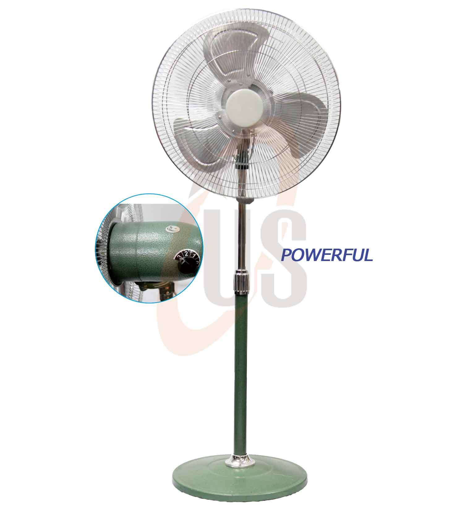 "18"" Powerful Green Commercial Metal Stand Fan (USSF-307)"