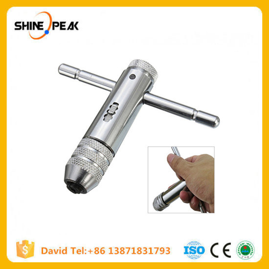 Woodworking Hand Tool M3-M8 Metric Thread Screw Tap Drill Bit Wrench T-Handle
