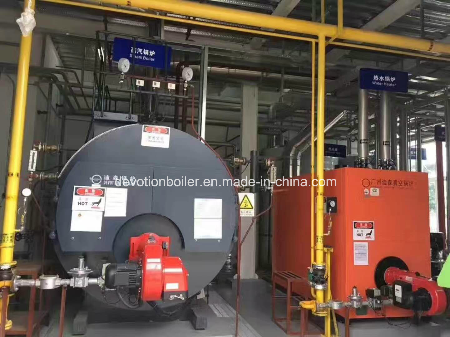 China Gas, Diesel Oil, Dual Fuel Hot Water Boiler for Hotel Photos ...