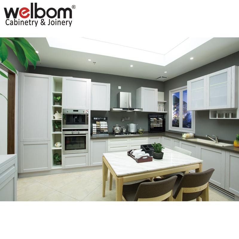 White Oak Wood Kitchen Cabinet
