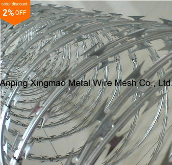 China Supplier Lower Price Concertina Razor Barbed Wire/Hot Dipped ...