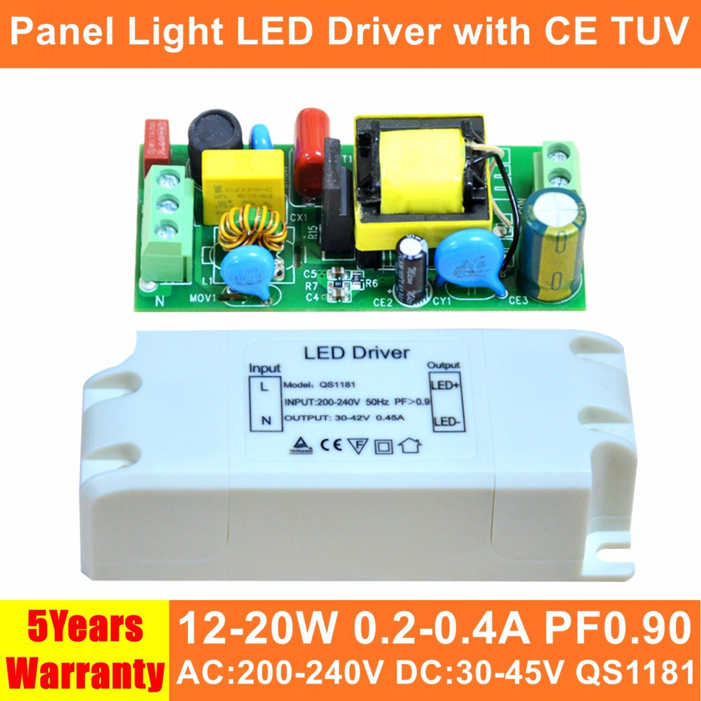 China 18w Isolated Hpf Panel Light Led Power Supply With Ce Tuv Circuit Qs1181 Driver Switch