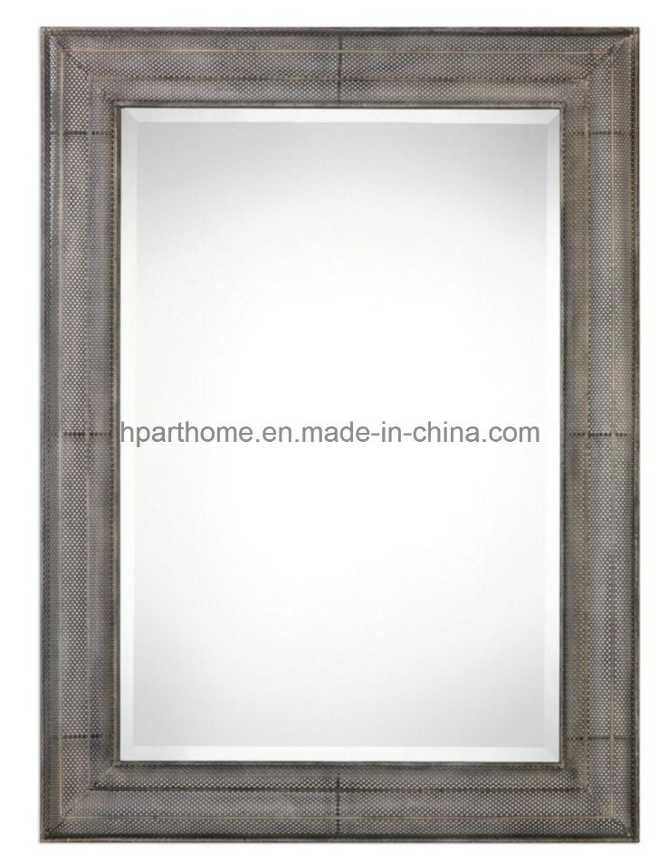 China Rectangle Copper Art Wall Metal Decor Mirror with Frames ...