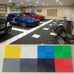 Swisstrax Cheap Plastic Outdoor Non Slip Interlocking Free Flow Garage Floor Tiles 400400