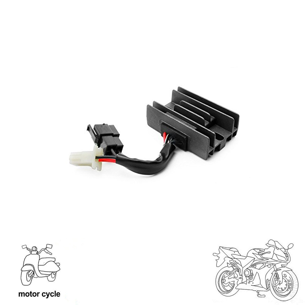 China For Suzuki Gn 125 250 5 Wires Motorcycle Atv Voltage Regulator Wiring Rectifier Accessories Current Rectifiers