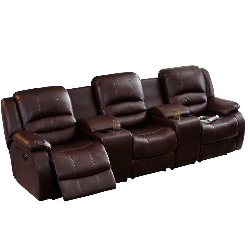 China Genuine Leather Theater Sofa Electric VIP Cinema Home