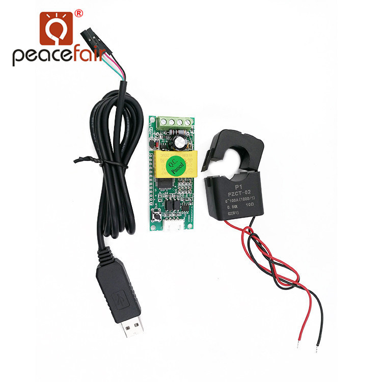China Pzem-004t+Split CT and USB Cable AC Single Phase 100A ...