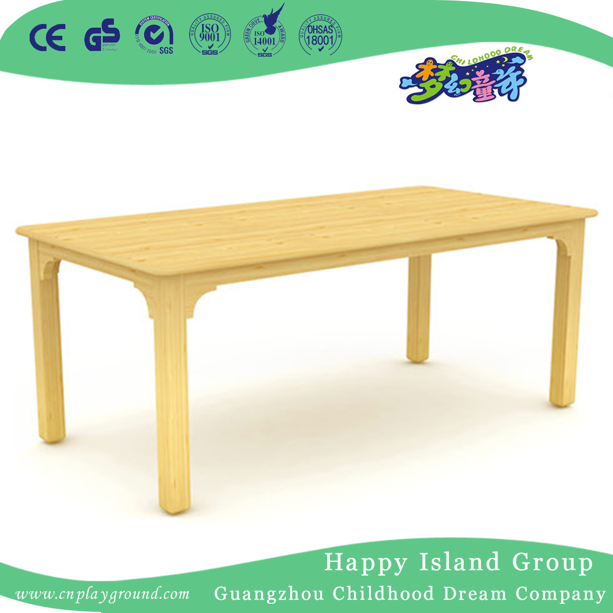China School Children Wooden Rectangle Table Desk Furniture Hg 3902 Kindergarten Plastic Kids And Chair