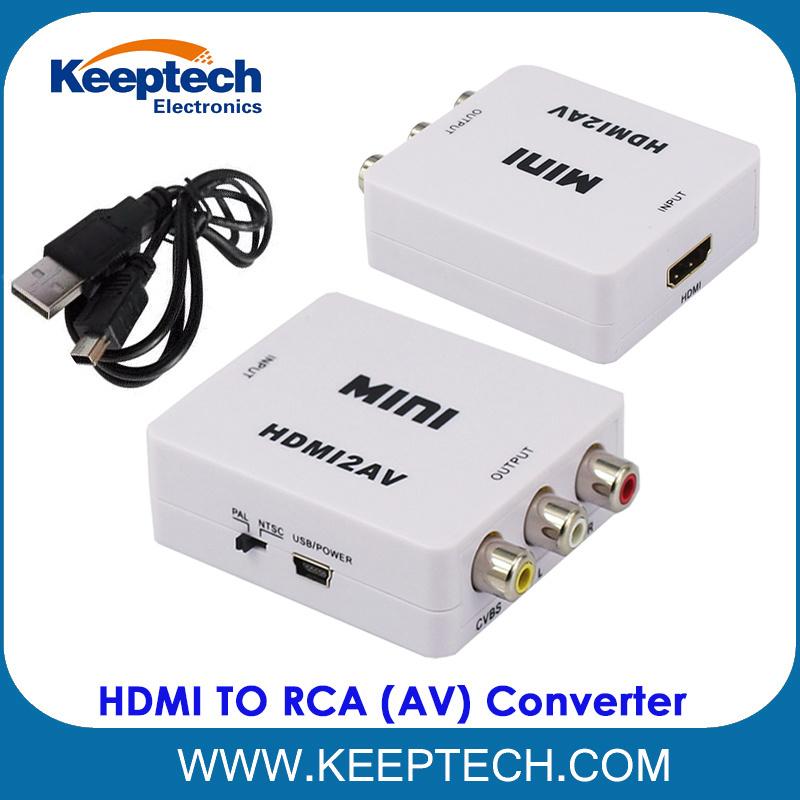 Alvorlig China Hot Sale Mini HDMI to RCA 1080P HDMI to AV Converter for DVD RM-28