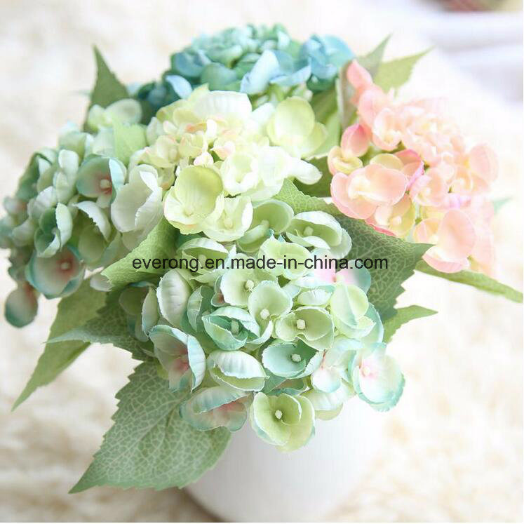 China Artificial Hydrangea Flowers UK Wedding Bouquet Real Touch ...