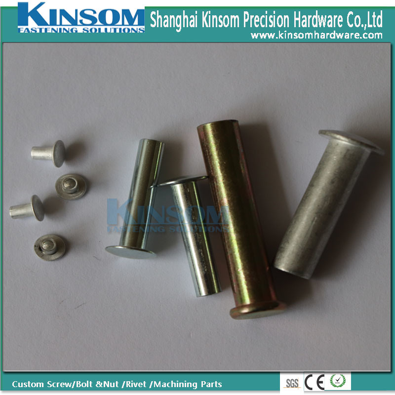 Mushroom Head Customized Nails Aluminum 6063 F22 Semi Tubular Rivet pictures & photos