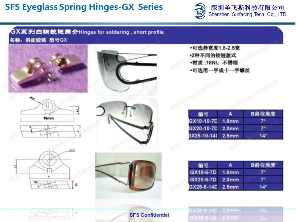 d33228c1f1eb China Custom and Stock Model Metal Eyeglass Spring Hinges and Bridge ...