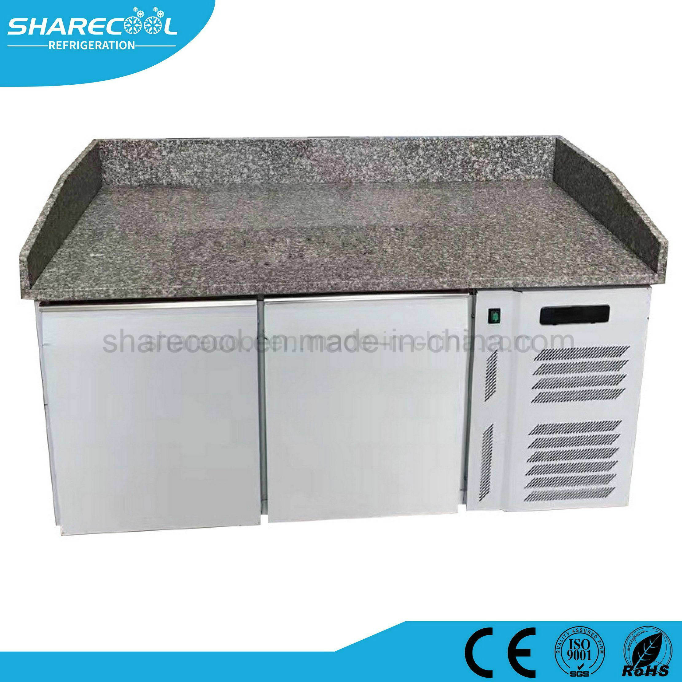 Stupendous Hot Item Marble Top Commercial Kitchen Double Door Refrigerator With Workbench Pdpeps Interior Chair Design Pdpepsorg