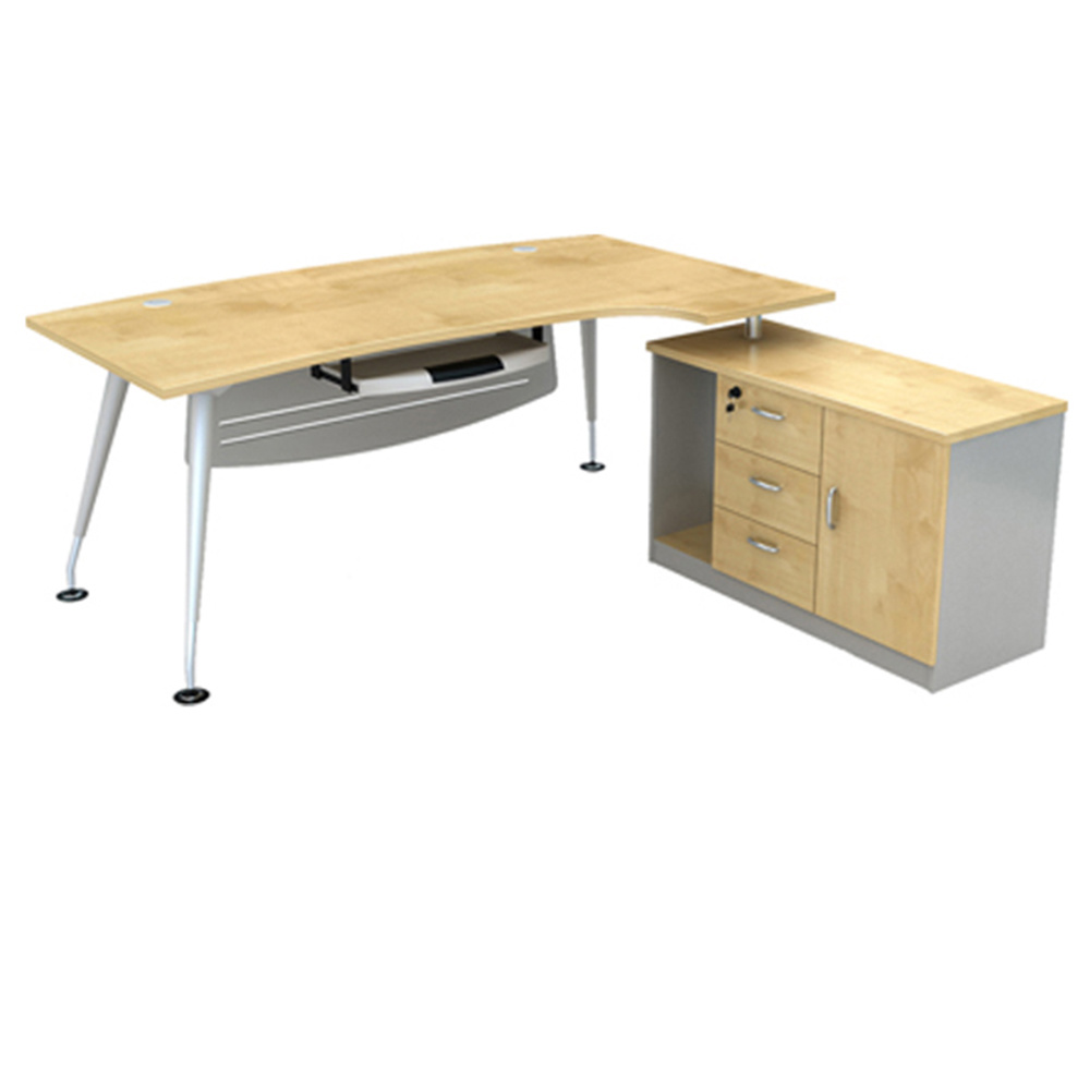 Office Desk Design L Shaped Executive Stainless Steel Table