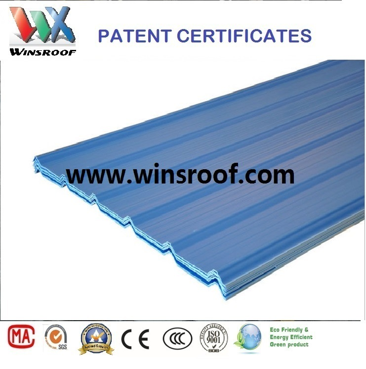 Wins PVC/UPVC Roof Tile Trapezoidal Type High Strengh-UPVC Roof