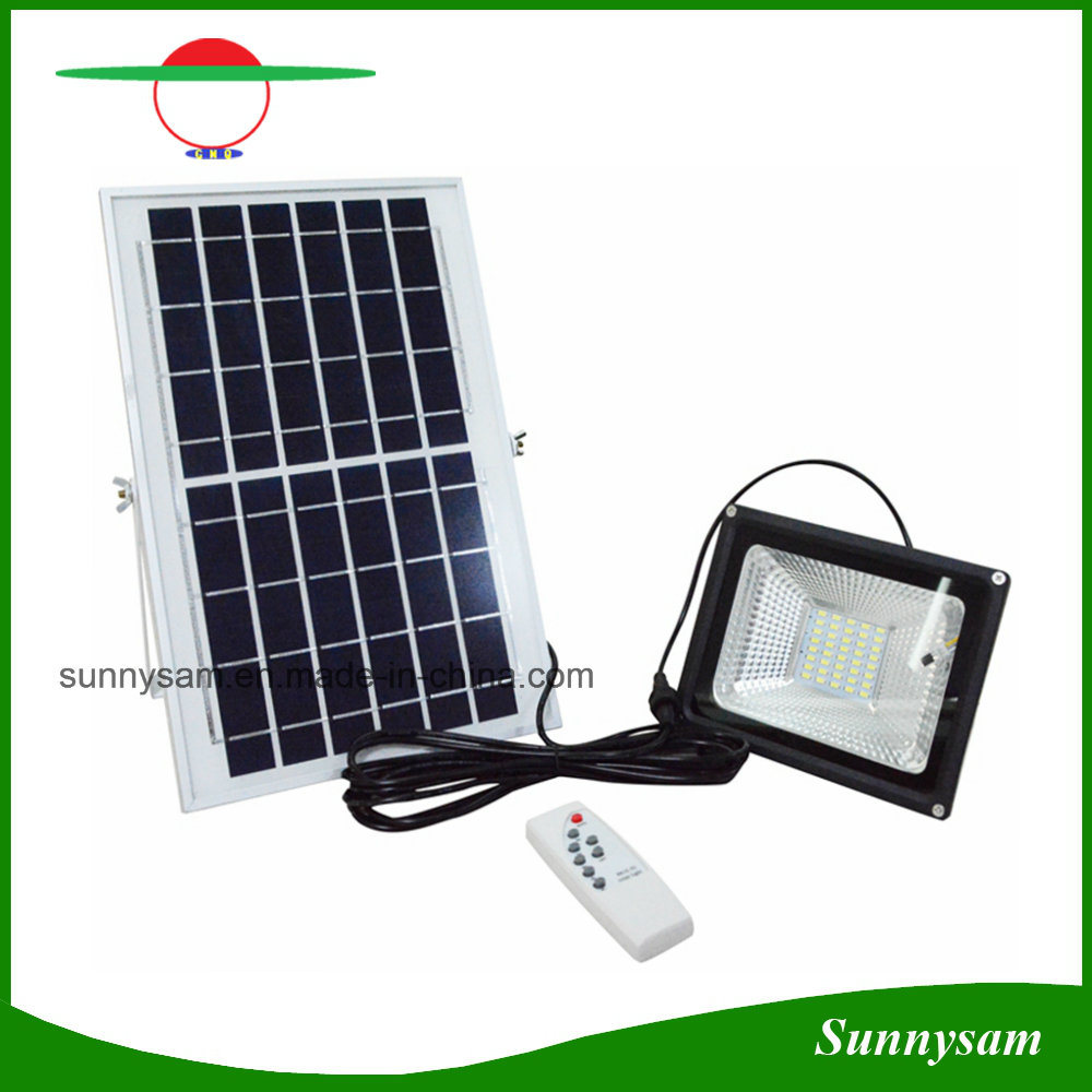 Hot Item 10w 20w 30w 50w Solar Ed Led Flood Light Remote Control Outdoor Security
