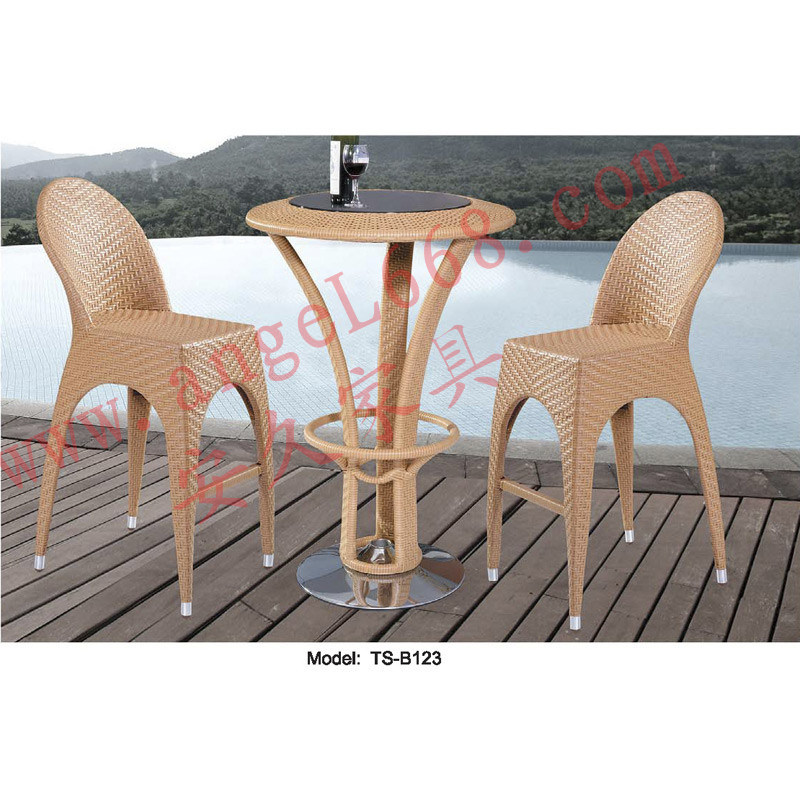 Hot Item Modern Leisure Outdoor Rattan Patio Garden Dining Bar Table Furniture For Balcony