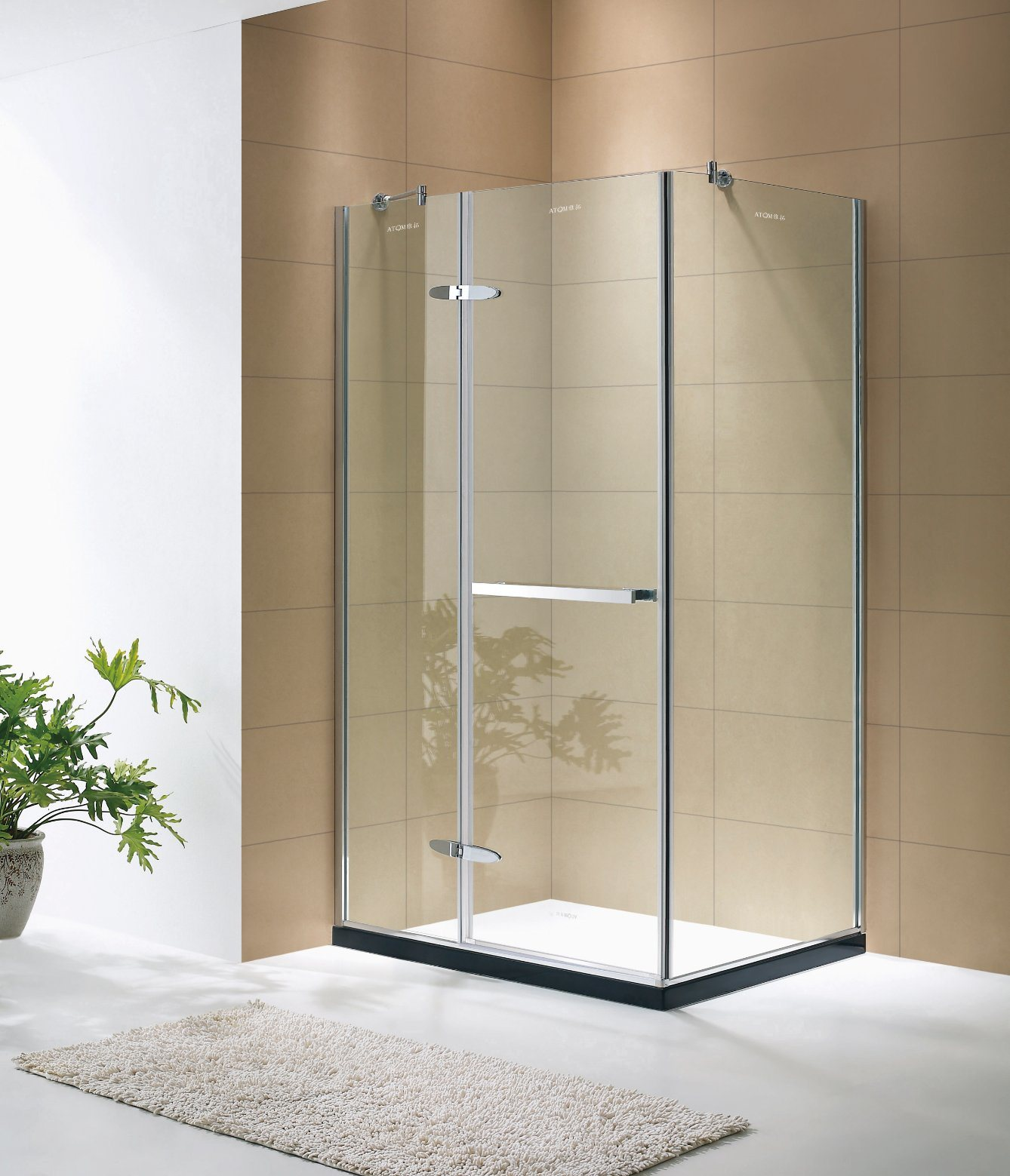 China Foshan Sanitary Ware 304 Stainless Steel Frameless Shower Enclosure/ Shower Cubicle   China Shower Room, Shower Door