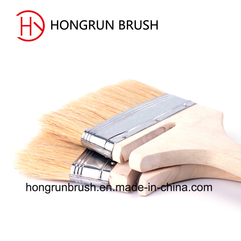 Wooden Handle Bristle Paint Brush (HYW027)