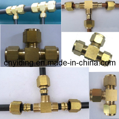 Brass Od Tee Connector for Fog Misting Systems (TH-B3005)