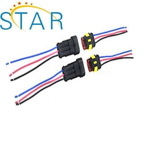 china custom automobile amp waterproof 3 pin connector auto wire
