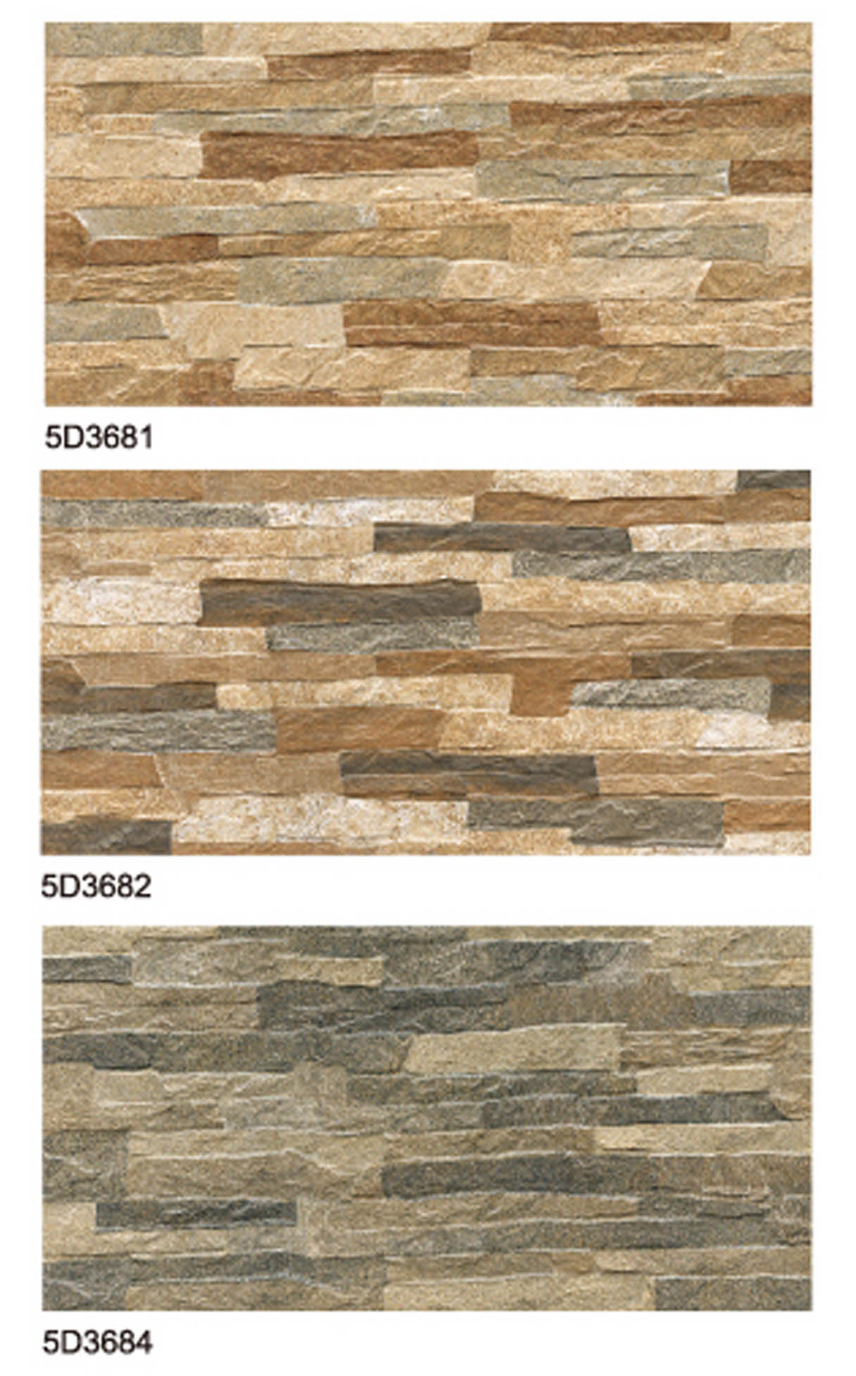 China Rustic Unglazed Stone Look Ceramic Wall Tile for Wall