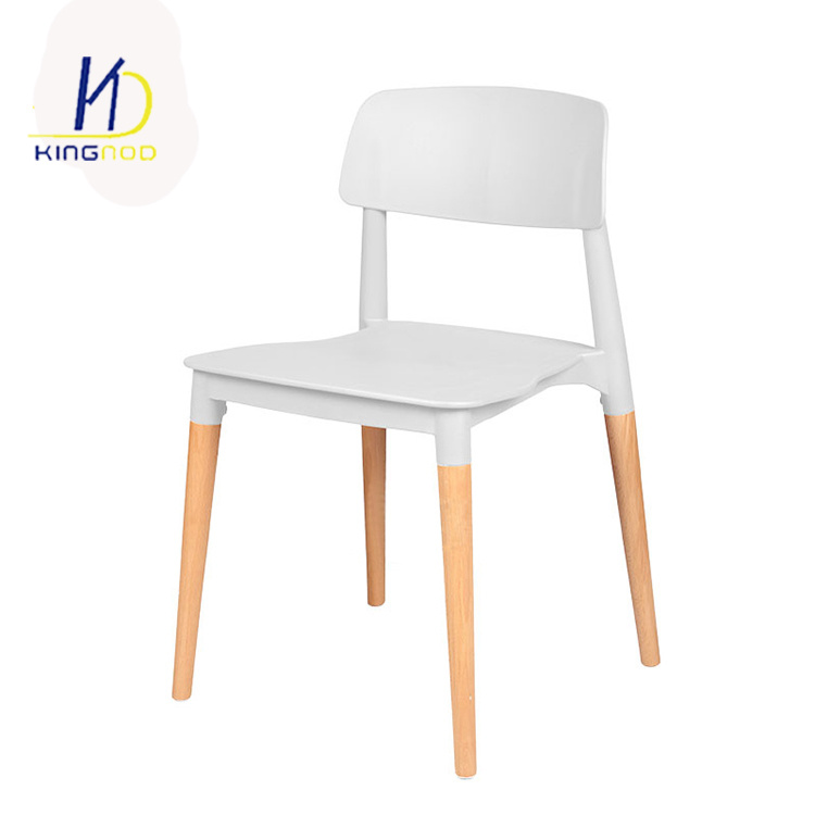 Terrific Hot Item Living Room Pp White Plastic Dining Chair With Wooden Legs Bralicious Painted Fabric Chair Ideas Braliciousco