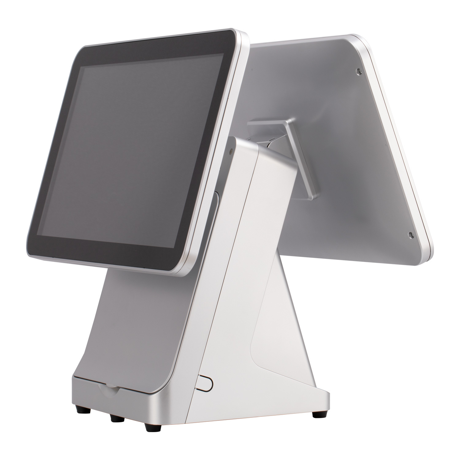"""China POS Manufacturer 15"""" 14"""" 12"""" 10"""" Double Touch Screen Shop Hotel Market  POS System - China Retail POS Software and Windows POS price"""