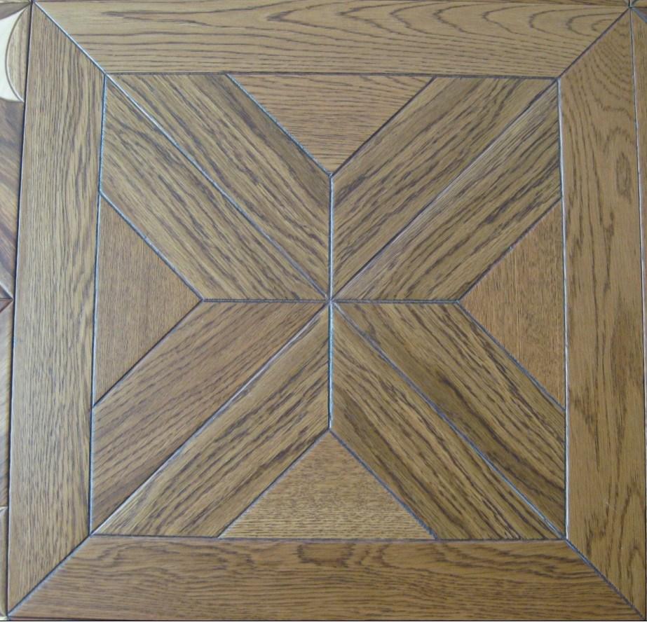 China 15 4 600 600mm Engineered Oak Wood Mosaic Parquet Flooring