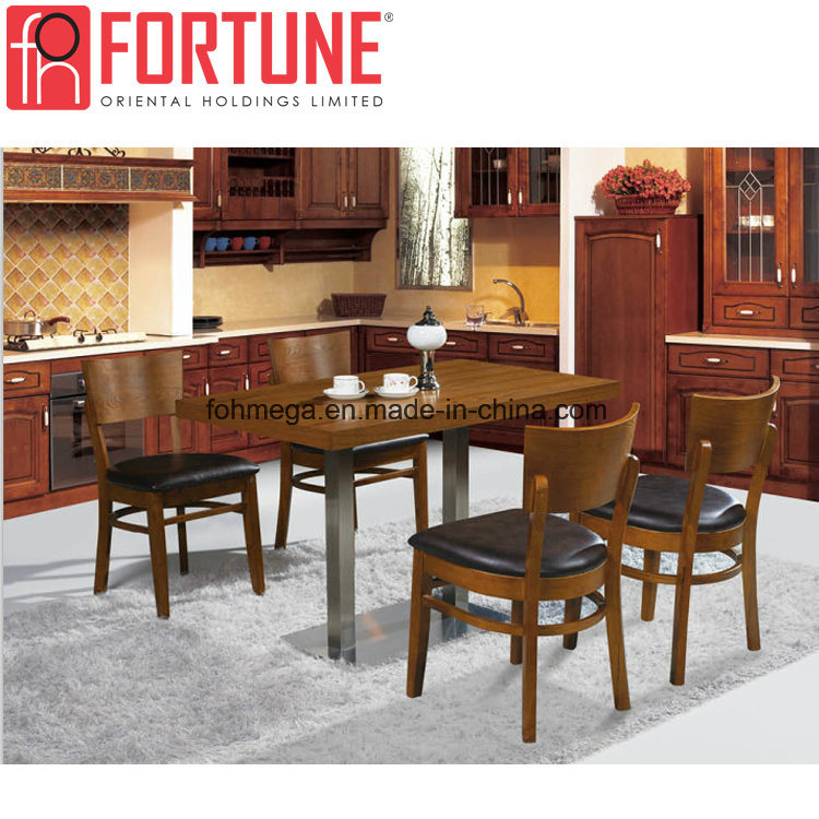 China Most Popular Wood Leather Design Restaurant Dining