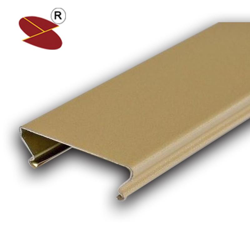 China Roll Coat Wooden Grain Moistureproof Aluminum Ceiling Tile Linear False