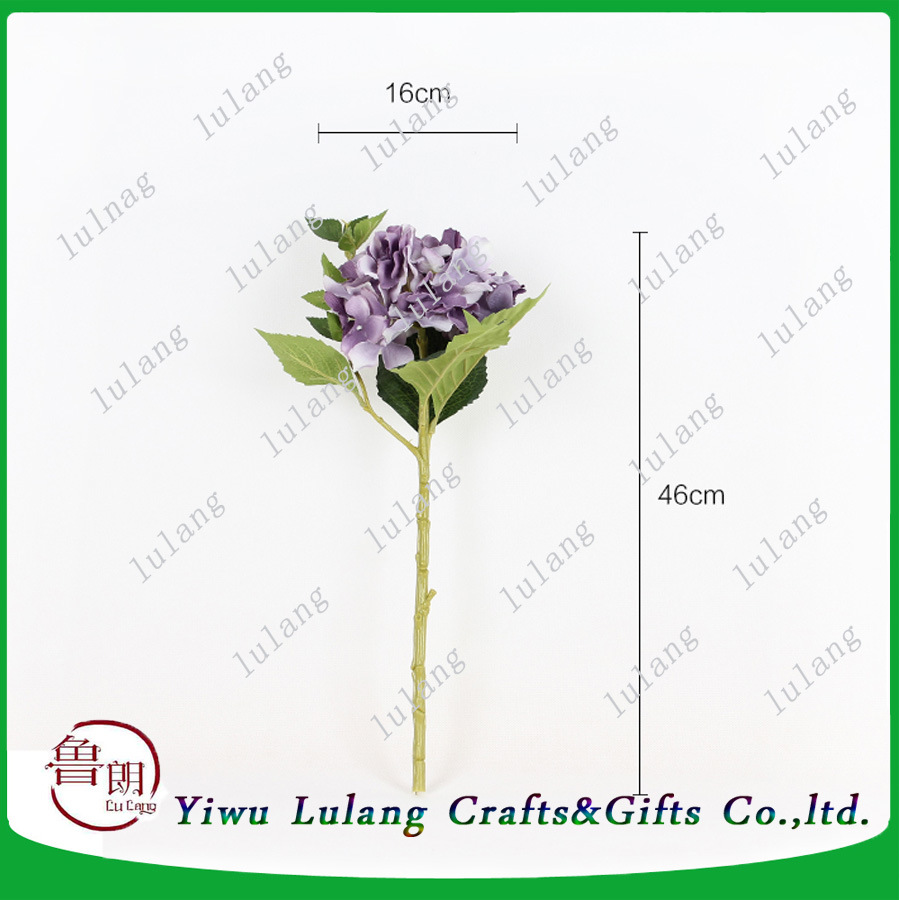 China Single Stem Silk Vision Hydrangea Flowers Artificial Flowers