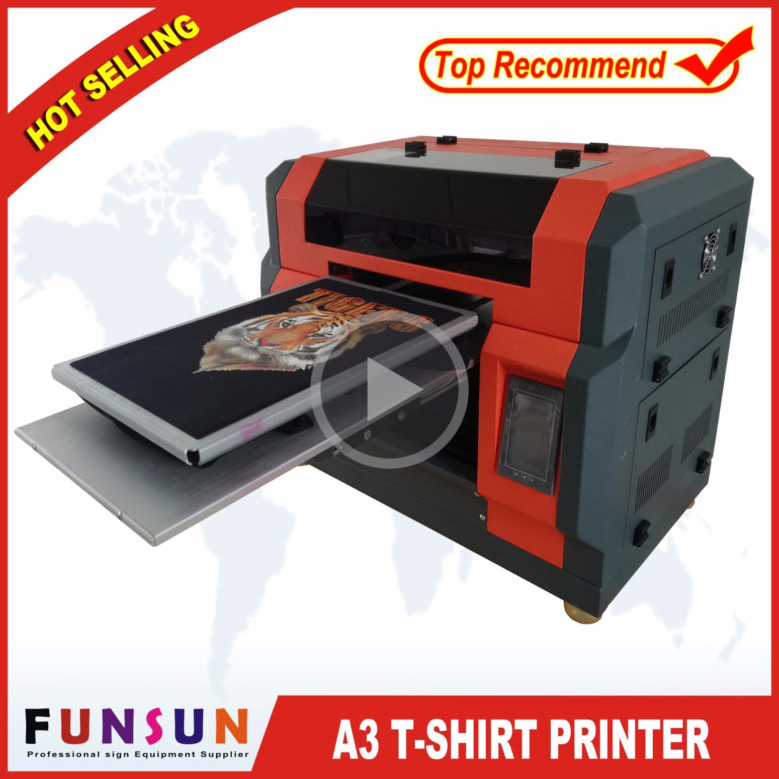 d95b7eafb China Advanced Funsunjet A3 Automatic T-Shirt Printing Machine - China T-Shirt  Printer, DTG Printer