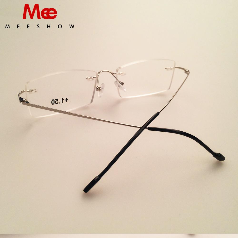 a7df2d7f23 Reading Glasses Rimless Eyeglasses Titanium Alloy Ready Goods Dropping  Shipment