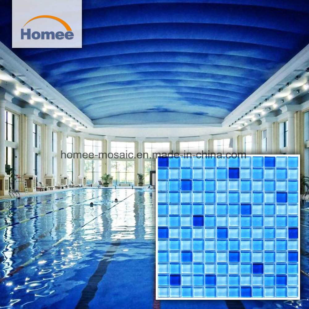 China Outdoor Cheap Blue Glass Mosaic Swimming Pool Tile Photos ...