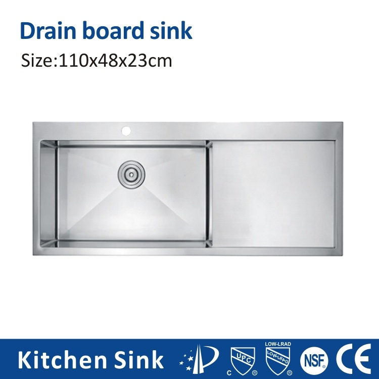 China Usa Uk R10 16gauge 33 Big Sinks Drop In Cabinet One Two Wash Basin Stainless Steel Finish Sink Glitter Glisten Handcraft With Cutting Board Kitchen Sink China Hole Wash Sink