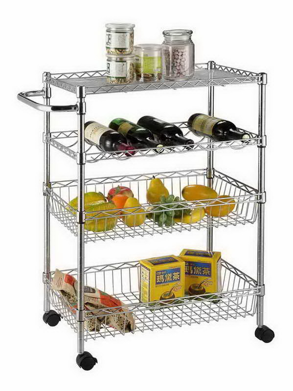 China Nsf Approved Household Storage Chrome Wire Shelving Kitchen Trolley China Kitchen Trolley Nsf Kitchen Trolley