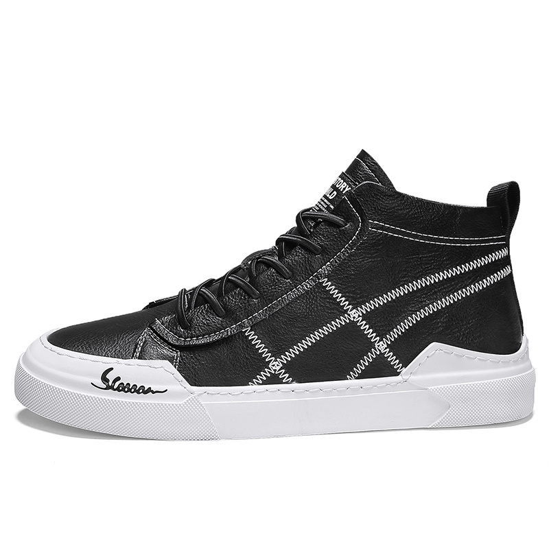 China Men High Top Casual Shoes Canvas
