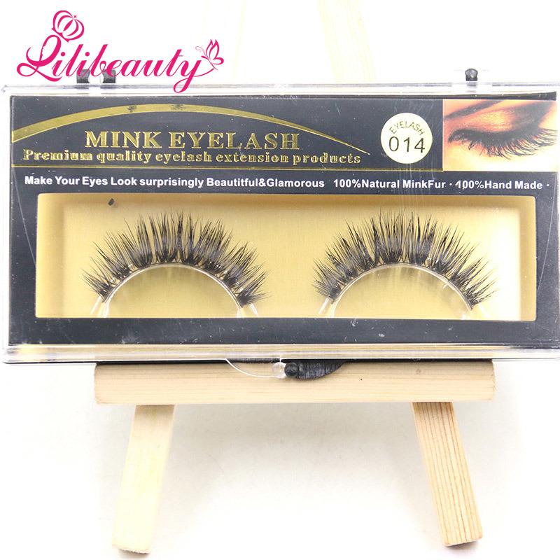 China Top Selling Make Up Thick False Eyelashes Mink Eyelash Photos