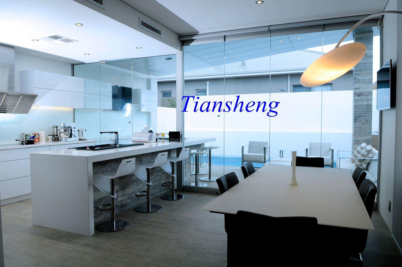 China Stainless Steel Frameless Folding Door System, Interior Bifold ...