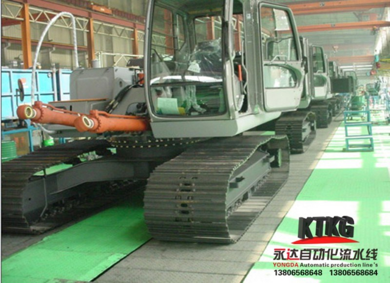 Excavator Vehicle Conveyor Line From Jdsk