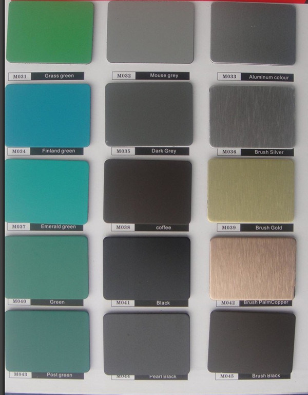 China Ral Color Chart Decoration Insulated Aluminum Panels China