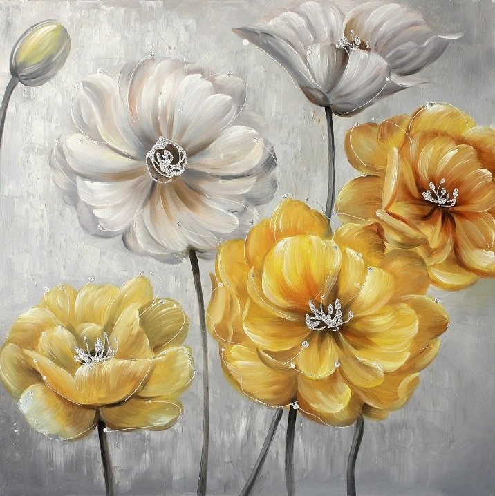 Unique Pink Flower Canvas Wall Art Picture Collection - Wall Art ...