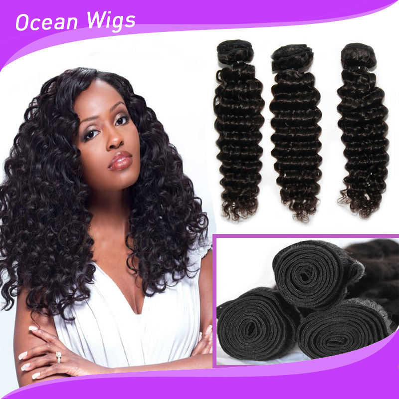 China Cambodian Deep Wave Virgin Remy Hair Extension Photos