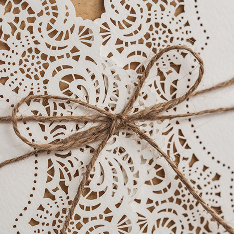 China Laser Cut Lace Wedding Invitations West Cowboy