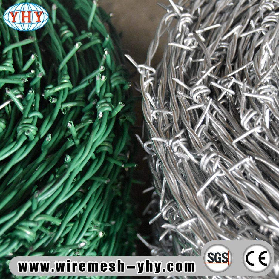 China 12X14 Gauge Galvanized Farm Guard Barbed Wire with 500m Length ...